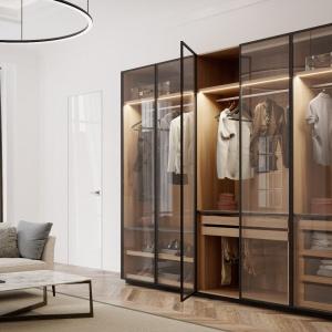 Przestrzeń sypialni i garderoby. Tytuł Dobry Design – Garderoba Brerra/Anegre