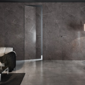 Drzwi i okna. Tytuł Dobry Design – Drzwi z kolekcji spieków kwarcowych PIU Aluminium Line/Piu Design