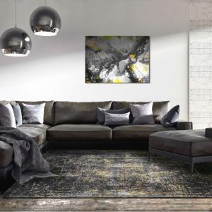 Przestrzeń pokoju dziennego. Wyróżnienie - Dywan Broadway Glitter z kolekcji Mad Men/Carpets&More