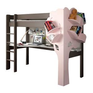 Pod stelażem łóżka HIGH SLEEPER BED umieszczone jest biurko. Półka w kształcie domku stanowi ciekawą ozdobę. Ok. 9.903 zł,. Fot. Mathy by Bols