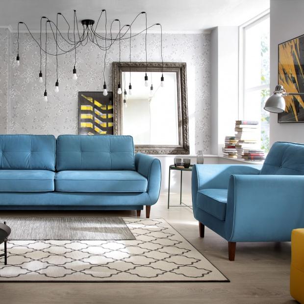 Sofa w salonie - 15 ciekawych propozycji w kolorze