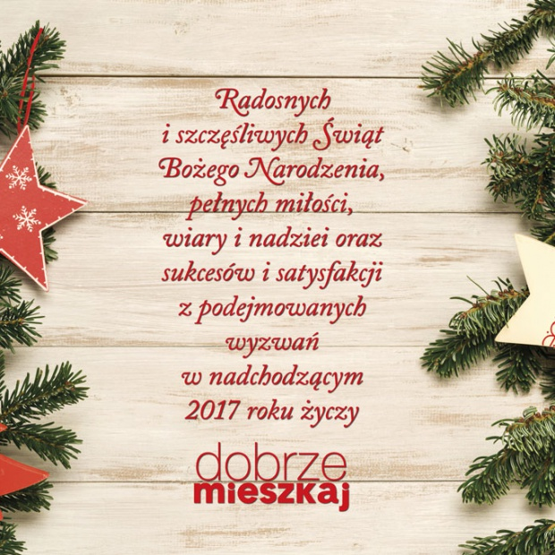 Wesołych Świąt życzy redakcja Dobrzemieszkaj.pl