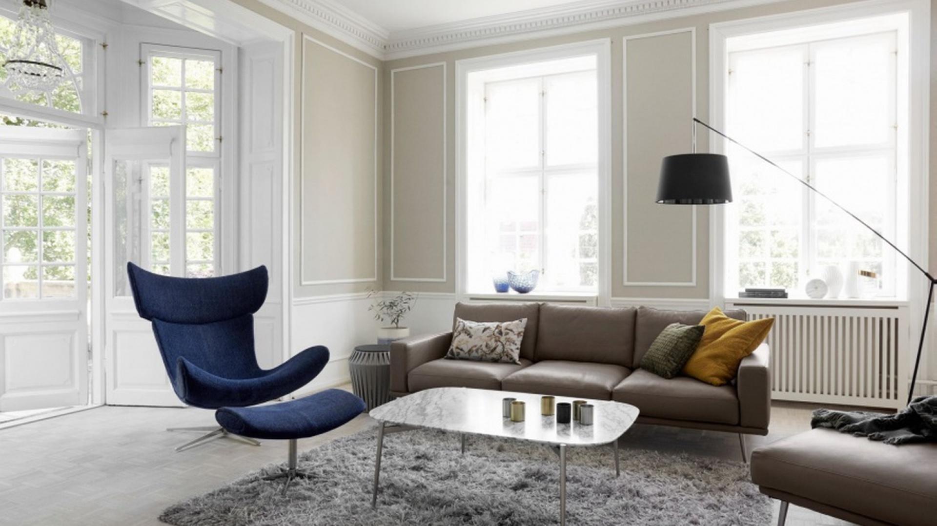 Fotel IMOLA dostępny jest w tkaninie oraz w skórze. Od 5.559 zł. Fot. BoConcept