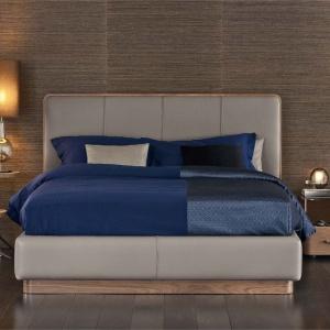 Eleganckie łóżko Ermes marki Flou. Fot.  Flou / Galeria Heban