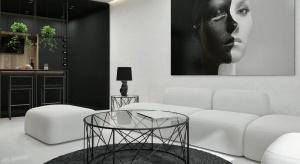 55-metrowe mieszkanie zaprojektowano w nowoczesnym stylu, oddzielając poszczególne strefy kontrastowymi kolorami. Zapraszamy do obejrzenia tego pomysłowego wnętrza.