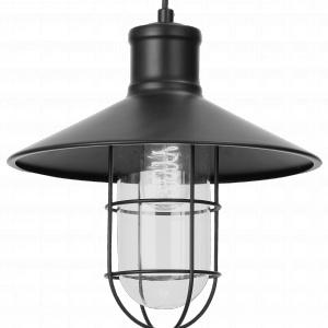 Lampa wisząca MATERA LIGHT PRESTIGE przypomina oświetlenie ze starej fabryki. Doskonałe uzupełnienie aranżacji w stylu loft. 249 zł. Fot. Leroy Merlin