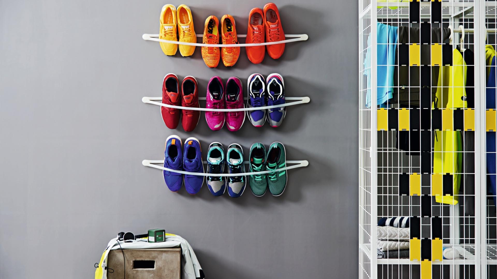 Zrób sam regał na buty. Fot. Bosch