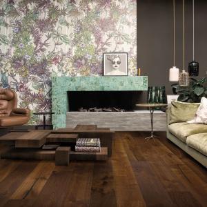 Podłoga drewniana Imperio z jednolamelowych desek w dużym formacie: 220x22x1,4 cm (4 deski). Od 299 do 319 zł. Fot. Quick-Step