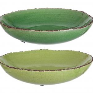 Komplet dwóch talerzy Grenen w naturalnych odcieniach zieleni o szkliwionej powierzchni do doskonały dodatek do aranżacji w botanicznym stylu. 129 zł. Fot. Westwing