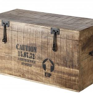 W skrzyni FARRIER można przechowywać pościel. Do wnętrz w stylu vintage. 2.470,50 zł (zestaw 3 sztuk). Fot. Enzo Design