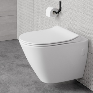 Miska WC CITY OVAL CLEANON z deską CITY OVAL SLIM. Fot. Cersanit