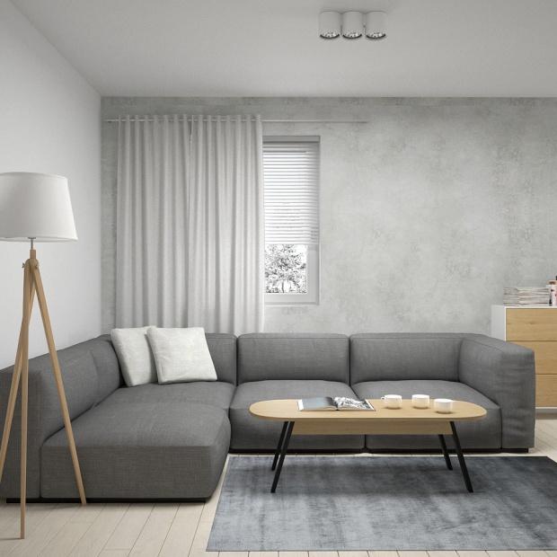 Ciepłe mieszkanie z pastelowymi akcentami