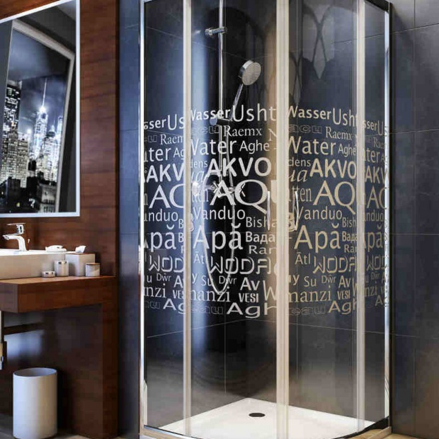 Nowoczesna łazienka - wybierz kabinę z napisami!