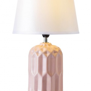 Lampa stojąca NARVA z podstawą z ceramiki w kolorze białym, szarym lub różowym. 95 zł. Fot. Halens