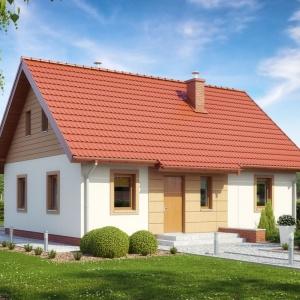 Jasny tynk będzie zawsze dobrze komponował się z czerwonym lub grafitowym dachem. Projekt: TK 88, Fot. Architeka Pracowania Architektoniczna Tomasz Kałaska