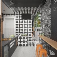 Lokal Gastronomiczny Styl Nowoczesny. Więcej informacji na stronie www.dreamdesign.net.pl