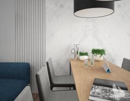 Salon / Jadalnia Styl Nowoczesny. Więcej informacji na stronie www.dreamdesign.net.pl