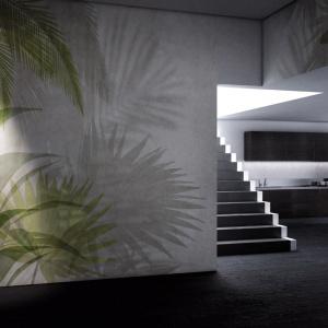 Kolekcja Paysage jest najbliżej pantonowskiego trendu. Wszystkie grafiki z serii zostały zaprojektowane z wykorzystaniem soczystej zieleni. Jej charakter bezpośrednio nawiązuje również do innej, bardzo mocnej tendencji — mody na miejską dżunglę. Fot. Glamora