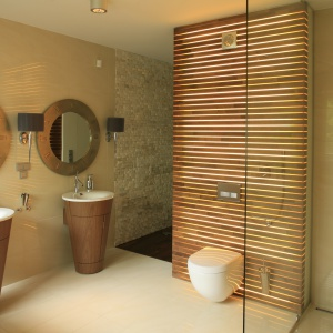 Prysznic bez brodzika. Projekt: Studio Ejsmont. Fot. Bartosz Jarosz