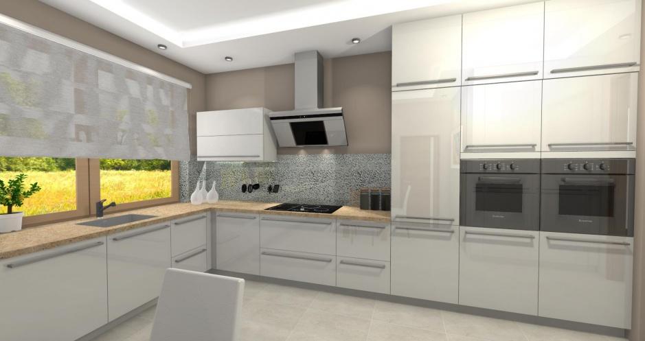 Realizacja Architekta Kuchnia W Domu Jednorodzinnym W Kozach