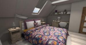 Sypialnia Skandynawko romantyczna