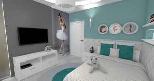 Pokój dziewczynki -baletnica