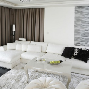 Sofa w salonie. Projekt: Katarzyna Uszok. Fot. Bartosz Jarosz