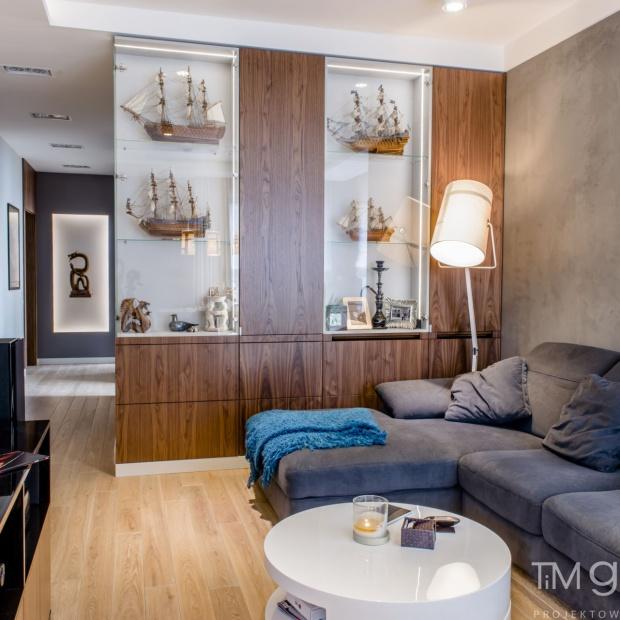 Nowoczesne wnętrze: przytulne mieszkanie w Warszawie