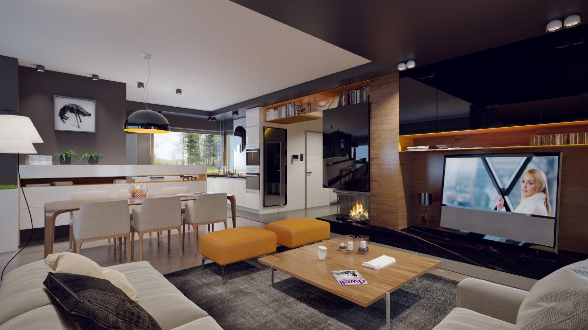 Powierzchnia użytkowa powyżej 160 metrów kwadratowych daje też duże możliwości adaptacji wnętrza. Fot. Archetyp