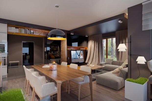 Nowoczesny dom parterowy z poddaszem użytkowym będzie optymalnym rozwiązaniem dla 4-5-osobowej rodziny. Powierzchnia użytkowa powyżej 160 metrów kwadratowych daje też duże możliwości adaptacji wnętrza.