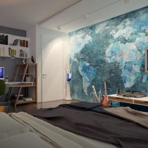 Dzięki zastosowaniu lukarny na poddaszu, pokoje pod nią mają niewiele skosów i pozwalają na ciekawe aranżacje wnętrza. Fot. Archetyp