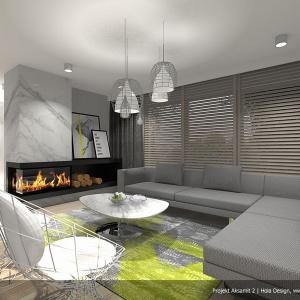 Białe wnętrze: ciekawe propozycje na pokój dzienny. Projekt: Aksamit 2, arch. Tomasz Sobieszuk. Fot. Biuro Projektów MTM Styl