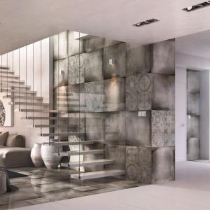 Płytki gresowe EGO doskonale prezentują się na ścianach i podłogach. Wzór patchworku doda wnętrzu stylu. Fot. Ceramstic