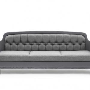 Sofa Onkel w szarej tapicerce. Fot. Normann Copenhagen