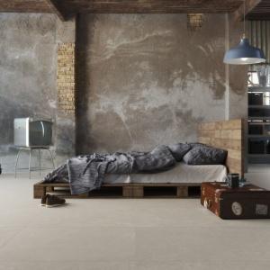 Płytki w sypialni. Kolekcja: Dogana. Fot. Argenta