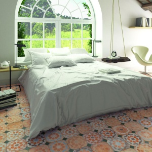 Płytki w sypialni. Kolekcja: Laverton. Fot. Vives