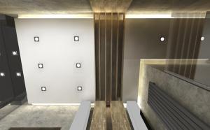 nieduża łazienka w szarościach i desce sh design  Sylwia Gabrys
