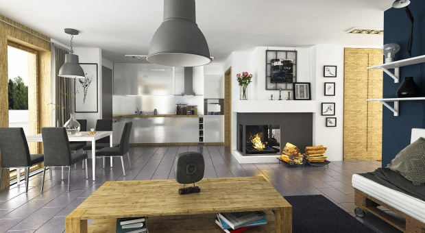 Zobacz projekt i wnętrze nowoczesnego domu parterowego