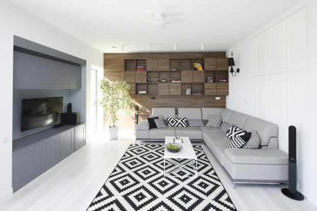 Piękny dom dla rodziny: modne wnętrze w klasycznym stylu