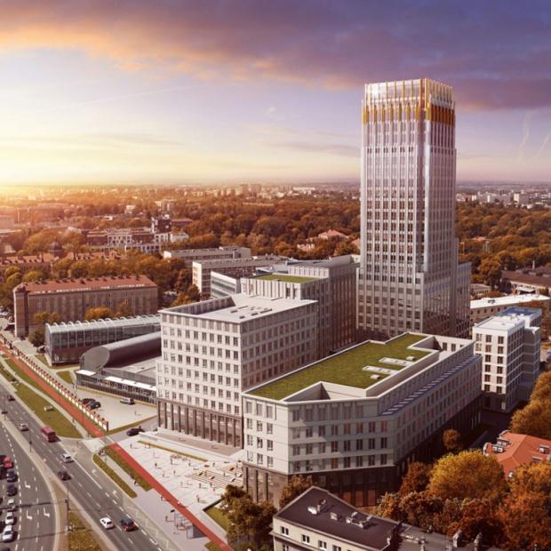 Unity Tower najwyższym wieżowcem w Krakowie