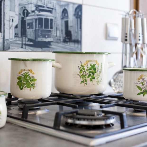 Kuchenne dodatki: ziołowa kolekcja garnków