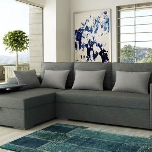 Szary we wnętrzu. Na zdjęciu: sofa Liguria, Adriana Furniture. Fot. Adriana Furniture