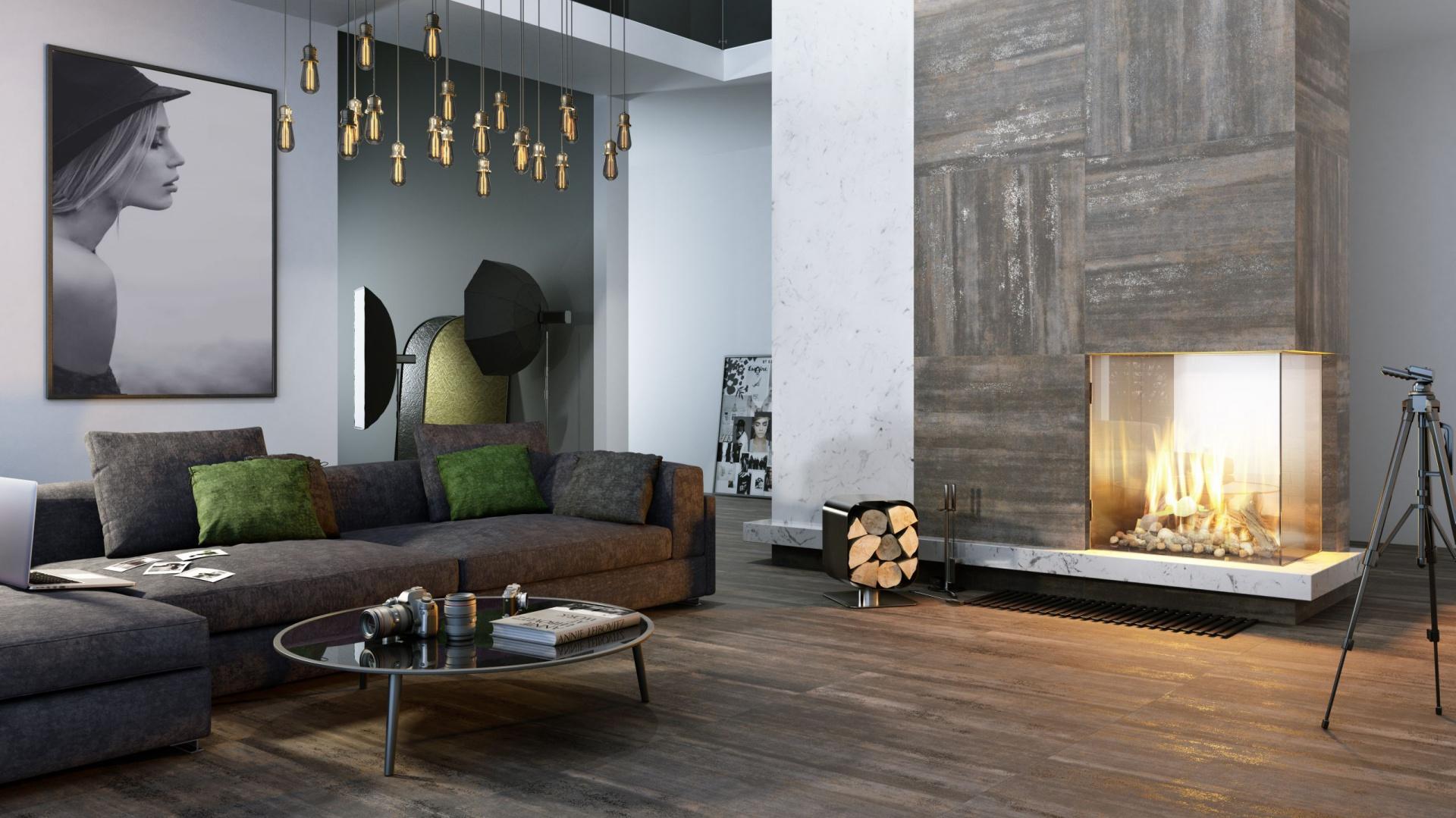 Kolekcja płytek Menfi to elementy naścienne oraz podłogowe w formacie 75x75 cm. Dodadzą dynamiki nowoczesnym aranżacjom. Od 115,87 zł/m². Fot. Ceramika Paradyż
