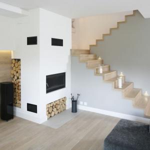 Pomysł na schody w domu. Projekt:  Małgorzata Galewska. Fot. Bartosz Jarosz