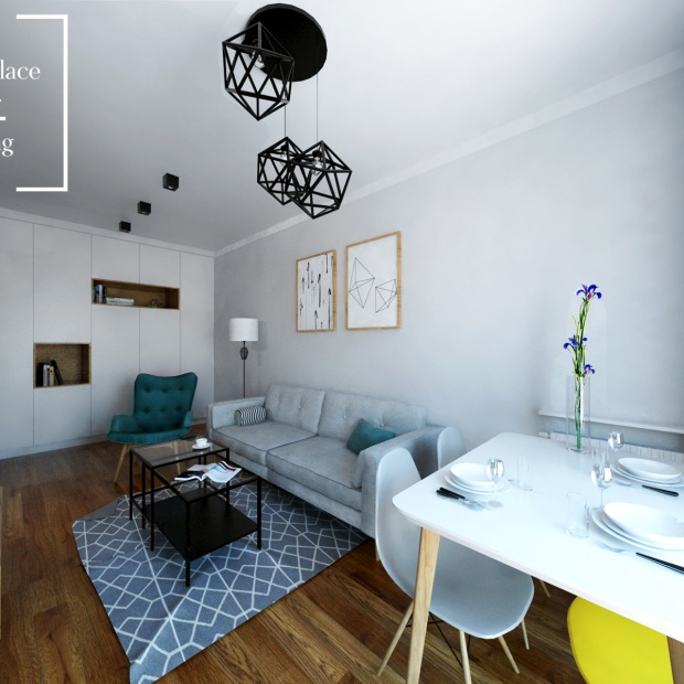 Wnętrze inspirowane stylem skandynawskim