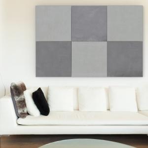Beton na ścianie sprawdzi się jako designerski zamiennik tapet lub element dekoracyjny. Płyty z betonu architektonicznego to świetne tworzywo do kreowania modnych mozaik ściennych i podłogowych. Na zdjęciu: płyty Slim, Modern Line