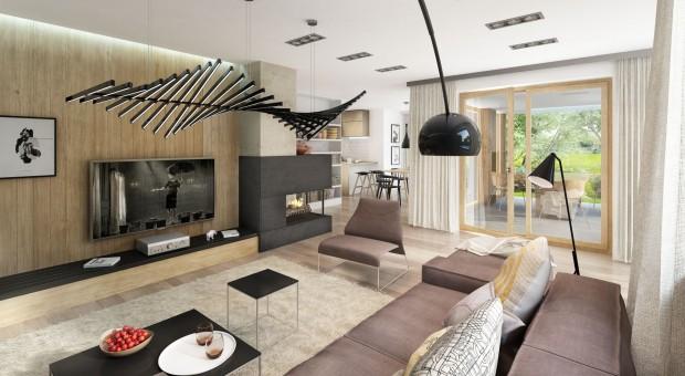 Dom z poddaszem: piękne wnętrza wykończone drewnem