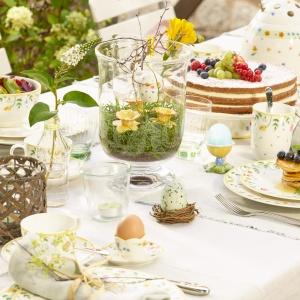 Dekoracje z porcelanowych zawieszek Spring Eggs. Fot. Villeroy&Boch