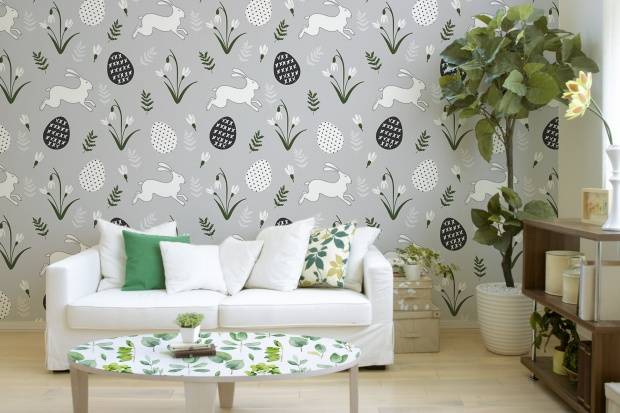Wielkanocny zajączek: piękne motywy dekoracyjne na ścianach i meblach