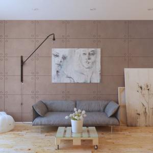 Ściana pokryta masą o efekcie betonu. Fot. Francesco Guardi Collezione